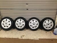 4 BMW mini one Steel wheels with mini trim