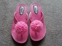Brand new pink sandals size 4