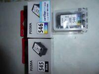 Canon FINE printer ink cartridges CL 545 & 546