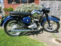 1968 bsa bantam d14 restored .4 gears .on sorn..matching numbers