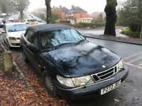 1997 classic Saab 900 2.3 convertible in need of a little tlc. Battery flat atm but will start.