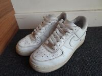 Nike Air Force One AF1 Low White Sneakers (UK5)