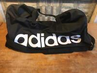 LARGE BLACK ADIDAS PERFORMANCE TEAM SPORTS BAG, GYM BAG with boot or shoe bag included!