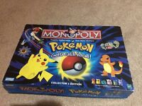 Vintage Pokemon monopoly collectors edition 2000 - missing one oak card and the booklet