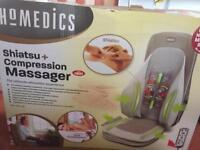 Shiatsu and compression massager