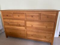 Corndell Nimbus Solid Oak Large Chest of Drawers/Sideboard