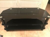 Black glass TV stand and side table £35, can deliver for fuel cost