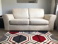 Cream two seater sofa (M&S)