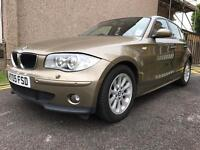 BMW 1 SERIES 1.6 MANUAL WITH LEATHER SEATS FRON & BQCK PARKING SENSORS BLUETOOTH FSH
