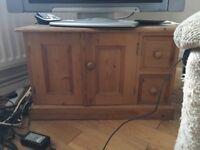 URGENT: Pine cabinet sideboard/tv stand