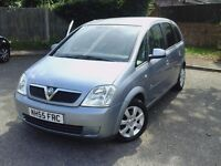 1 FORMER OWNER,LOW MILEAGE ,FULL SERVICE ,VAUXHALL MERIVA BREEZE