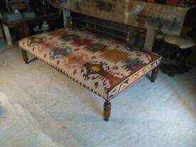 kilim footstool ottoman coffee table kilim upholstered furniture handmade kilim fabric surrey