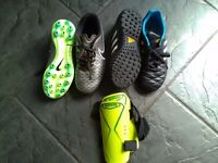 Boys Astros and football boots size 1