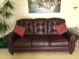 Three Piece Lounge Suite with footstool