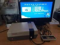 Nintendo nes original console set up & 150 games