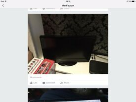 24in led tv/DVD combi with remote show all working bargain £85 Ono