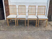 4 Dining Chairs - IKEA Ekedalen, Solid Oak