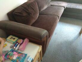 Corner bed sofa DFS large half leather