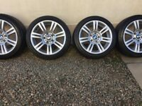 "4 17"" bmw sport alloys."