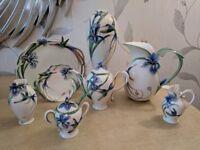 Franz Porcelain Hummingbird 8 piece collection
