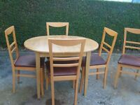 EXTENDABLE TABLE & 5 CHAIRS (NEAR MARKET WEIGHTON)