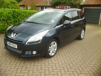 Excellent family car - 7 Seater Peugeot 5008 1.6HDi FAP Exclusive 5dr