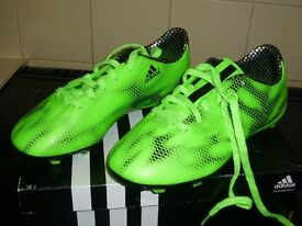 Boys adidas lime green football boots brand new size3