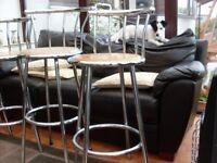 high quality kitchen bar stools chrome with hardwood seat