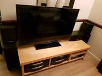 IKEA OAK TV UNIT ON WHEELS. GOOD CONDITION, CAN DELIVER