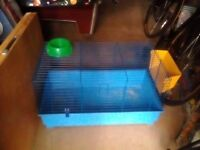 One indoor one outdoor pet cages suitable for rabbit or guinea pigs