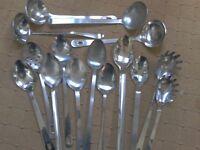 15 x Heavy Duty Stainless Steel Catering Utensils