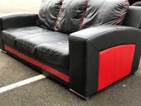 3 Seater Leather Sofa (@07752751518)