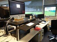 Ikea Hack Standing Desk Dual Monitor