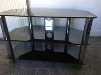 Free black glass tv unit and table