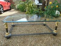 ELEGANT ITALIAN GLASS COFFEE TABLE- EXCELLENT CONDITION