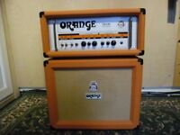 Orange TH100 Amp Head and 1 x 12 Cab with padded covers