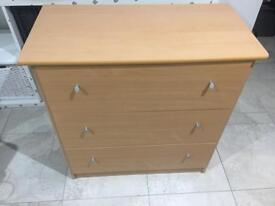 CHEST OF DRAWS (2) & TV STAND