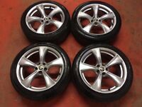 17'' GENUINE ALFA ROMEO 147 Q2 SPORT ALLOY WHEELS WITH TYRES