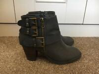Dune grey ankle boots, size 5
