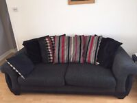 SCS large 3 seater sofa and matching armchair