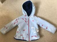 Joules 9-12 month reversible jacket