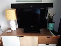 Television with dvd & soundbar