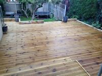 Bespoke wood designs ranging from garden decking projects to unique wooden craft designs.