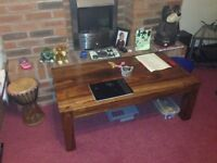 coffee table solid wood nice condition