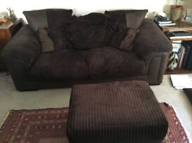 SOFA BED AND FOOTSTOOL FOR SALE (Mattress Included)