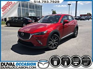 2017 Mazda CX-3 GT + CUIR + NAVIGATION + TOIT OUVRANT + AWD