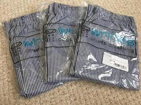 Chef trousers (new) £10 each or 3x £25