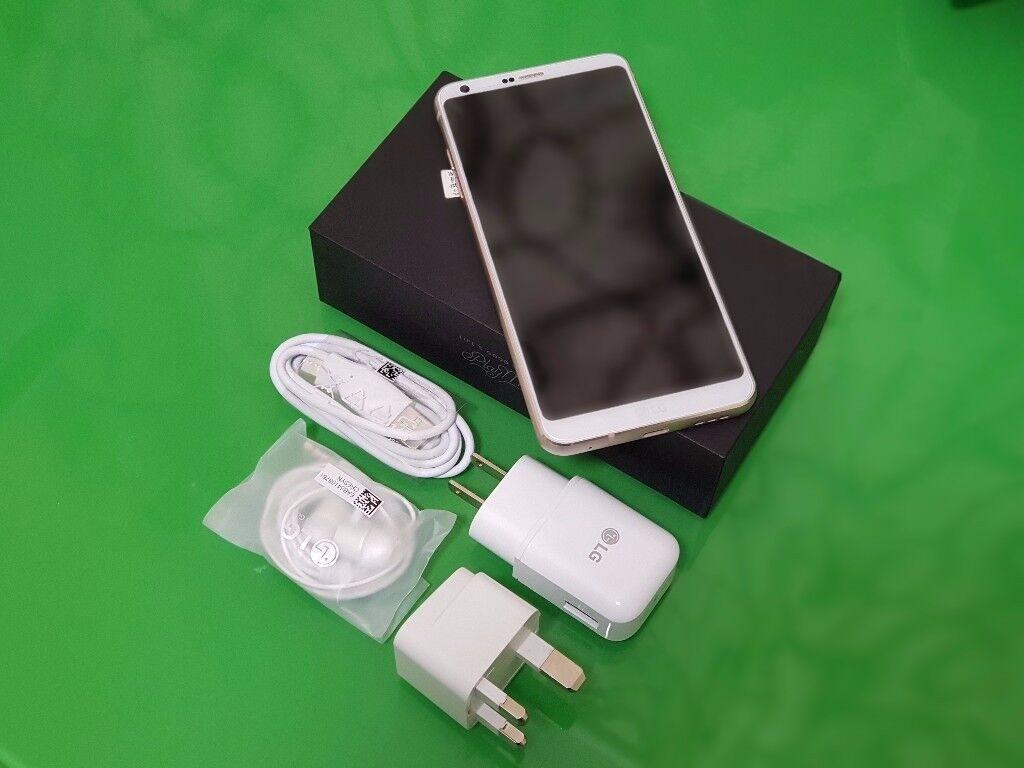 LG G6+64GB +BRAND NEW LIMITED EDITION WHITE COLOUR +64GB UNLOCKED +DUAL SIM +BOX PACK