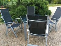 Black Garden Table set and 4 Chairs