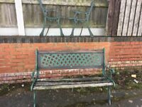 Cast Iron Garden Bench With Cast Iron Lattice Back Plate Can Deliver 2 Available